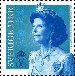 Sverige - Dronning Silvia - Postfrisk rullemærke