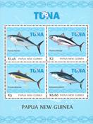 Papua Ny Guinea - Tunfiskeri - Postfrisk miniark 4v