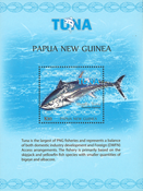 Papua Ny Guinea - Tunfiskeri - Postfrisk miniark 1v