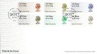 Great Britain - 50 years definitives type Machin - First Day Cover avec franking labels