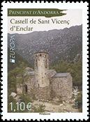 Fransk Andorra - Europa 2017 - Postfrisk frimærke
