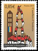 Fransk Andorra - Els Castellers - Postfrisk frimærke
