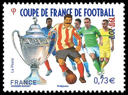 Frankrig - Det franske fodboldmesterskab - Postfrisk frimærke