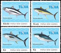 Papua Ny Guinea - Tunfiskeri - Postfrisk sæt 4v