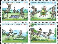 Papua Ny Guinea - Saltudvinding - Postfrisk sæt 4v