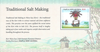 Papua Ny Guinea - Saltudvinding - Postfrisk miniark 1v