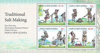 Papua Ny Guinea - Saltudvinding - Postfrisk miniark 4v