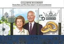 Liechtenstein - Kongeligt guldbryllup - Postfrisk miniark