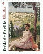 France - Frederic Bazille - Mint stamp