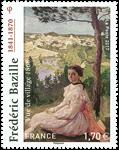 Frankrig - Frederic Bazille - Postfrisk frimærke