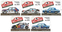 Portugal - 50 Years Rally Portugal - Mint stamp 5v