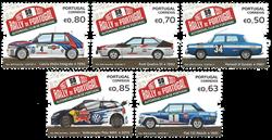 Portugal - 50 år med rally i Portugal - Postfrisk sæt 5v