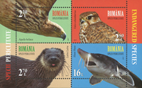 Romania - Endangered Species joint issue with UN - Mint souvenir sheet