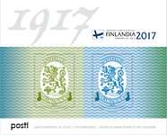 Finland - Postvæsenet 1917-2017 - Postfrisk miniark