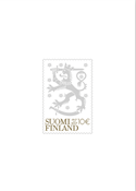 Finland - Coat of arms - Mint s/s with gold and silver print and invisible image in the background