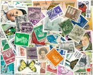 Hele Verden - 100 forskellige frimærker - Stemplet