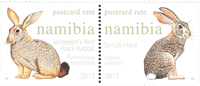 Namibia - Hares and rabbits - Mint set 2v