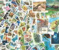 Tidl. russiske stater - 150 forsk. frimærker og 14  miniark - Stemplet