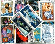 Rumfart - 100 forskellige frimærker