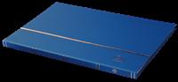 Classeur Leuchtturm BASIC - Bleu - A4 - 16 pages blanches - couverture non ouatinée