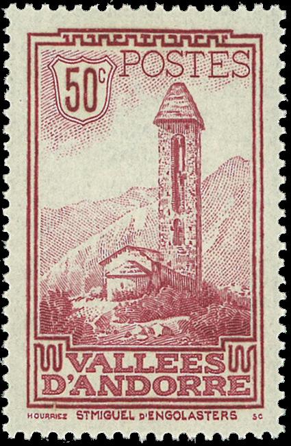 Andorra fransk YT 35 Fransk Andorra Landskaber