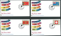 United Nations - Flag series on FDCs