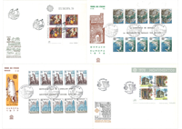 Europa CEPT stamps on first day covers