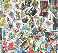 Eiland Man -  Postzegelpakket - 100 verschillende