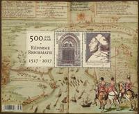 Belgien - 500 år Reformation - Postfrisk miniark