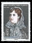 Fransk Andorra - Areny-Plandolit - Postfrisk frimærke