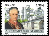 Frankrig - 200-året for cement - Postfrisk frimærke