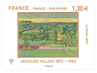 France - Joint issues w/Philippines, Villon - Mint stamp