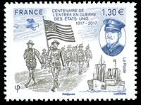 Frankrig - Krig USA - Postfrisk frimærke