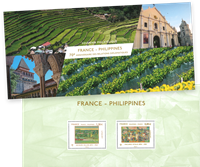 France - Joint issues w/Philippines - Mint souvenir sheet in folder
