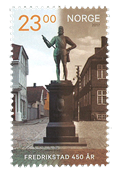 Norway - 450 years Fredrikstad - Mint stamp