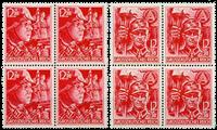 Tyske Rige 1945 - SA og SS - Postfrisk 4-blokke