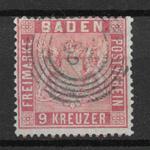 Baden 1860 - AFA 12 - stemplet