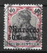 German Colonies 1906 - AFA 40 - cancelled
