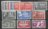 Suisse 1945 - AFA 449-461 - neuf sans ch.
