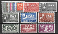 Switzerland 1945 - AFA 449-461 - mint not hinged
