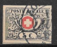 Schweits 1849 - AFA 10 - stemplet