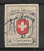 Schweits 1851 - AFA 11 - stemplet
