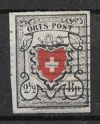 Schweits 1850 - AFA 13 - stemplet