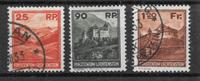 Lichtenstein 1933 - AFA 119-121 - cancelled