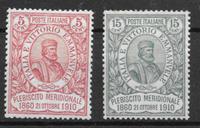 Italy 1910 - AFA 89-90 - mint hinged