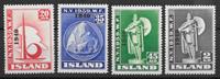 Iceland  1940 - AFA 219-222 - mint hinged