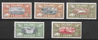 Iceland  1930 - AFA 142-146 - mint hinged