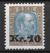 Iceland  1926 - AFA 122 - mint not hinged