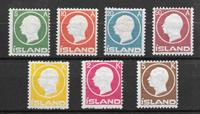 Iceland  1912 - AFA 69-75 - mint not hinged