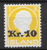 Iceland  1925 - AFA 111 - mint hinged